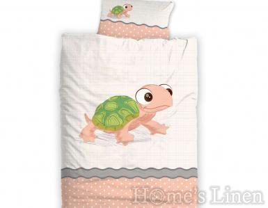 """Бебешки спален комплект 100% памук ранфорс """"Костенурка"""""""