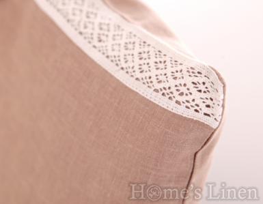 Калъфка за декоративна възглавница лукс с дантела - два размера