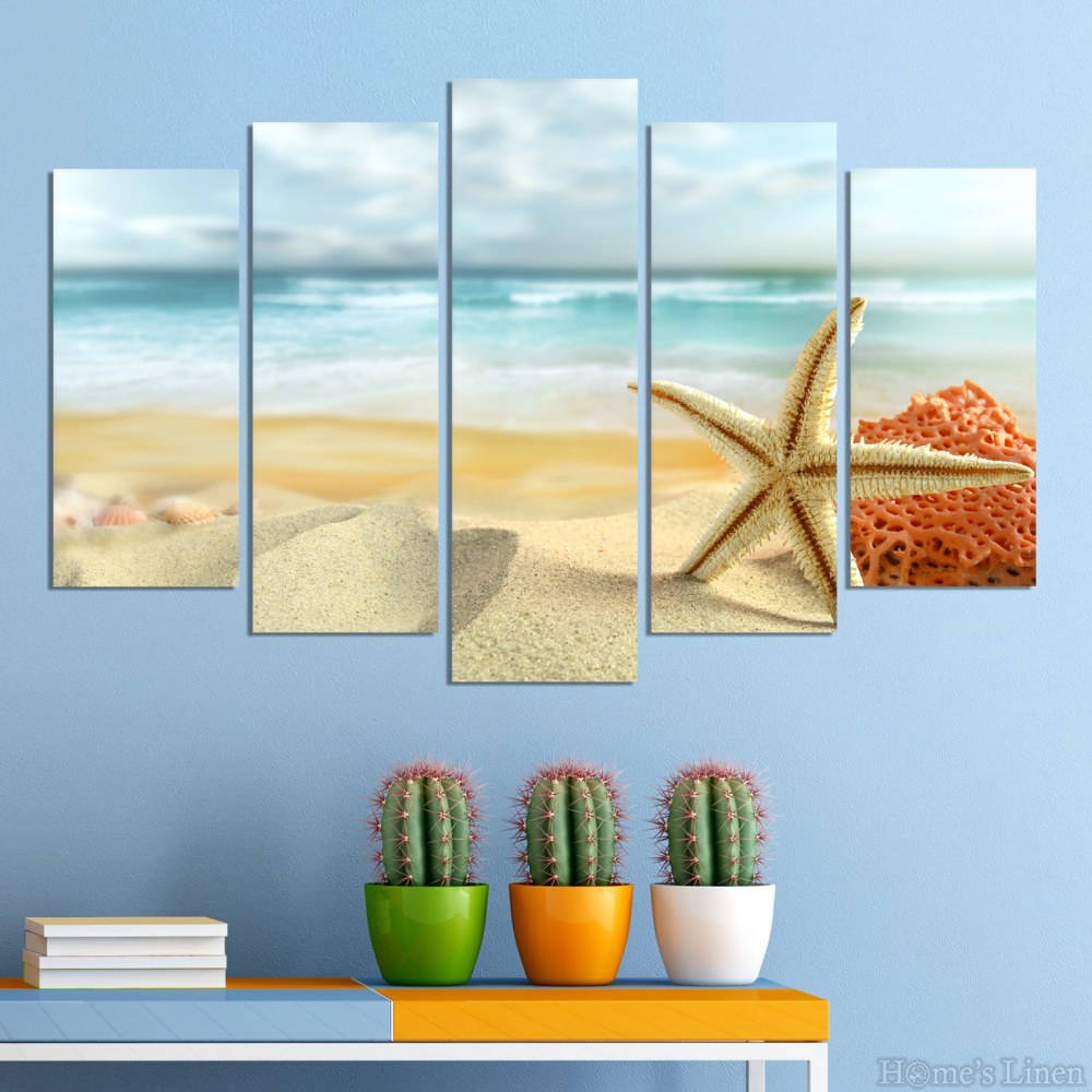 Wall Decorative Panels with impress of starfish by Vivid Home