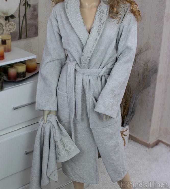 Set of Bathrobe + 2 pcs. Bath Towel