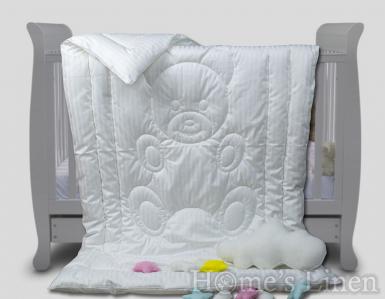 Бебешка олекотена завивка 100% памук- сатенирано райе