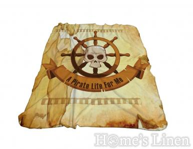 "Одеяло фланел 3D принт ""Пирати"""