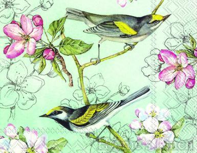 """Дизайнерски салфетки 20бр """"Birds Symphony"""", IHR"""