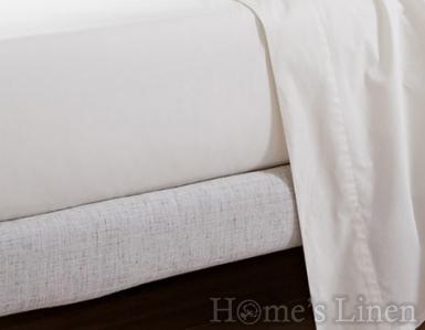 Луксозен долен чaршаф с ластик за кръгла спалня 100% памучен сатен 300 нишки - различни цветове