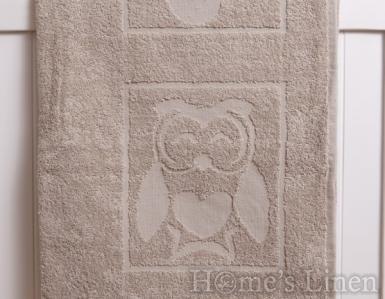 """Детска хавлиена кърпа 100% памук """"Бежов бухал"""""""