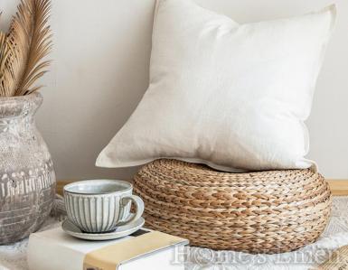 "Калъфка за декоративна възглавница лен и памук ""Rustic"""