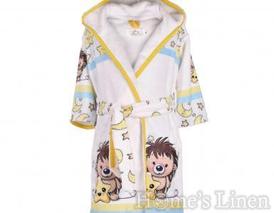 """Детски халат за баня DF печат """"Сънчо"""" размер S и М"""