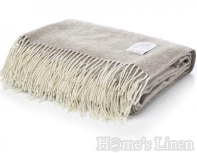 "Луксозно наметало/ одеяло мерино вълна ""Winterberry"" бежово"