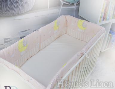 """Обиколник за бебешко легло """"Слонче в розово"""""""