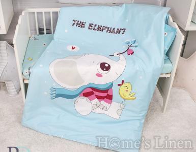 """Бебешки спален комплект памучен сатен, 100% памук """"Лъчко"""""""