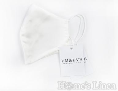 """Маска за лице от 100% естествена коприна """"Ivory"""", EM&EVE"""