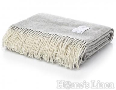 "Луксозно наметало/ одеяло мерино вълна ""Winterberry"" сиво"