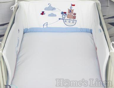 "Обиколник за бебешко легло/ кошара трико ""Пират"""