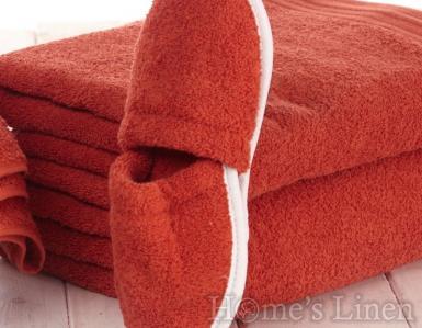 Хавлиени чехли 100% памук оранжево