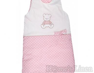 "Зимно бебешко спално чувалче ""Розови точки"" - два размера"