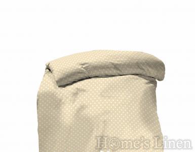 "Плик за завивка 100% памук cotton plus ""Точки"" беж"