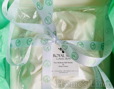 """Промоционален подаръчен комплект от естествена коприна от три части """"Royal Silk"""""""