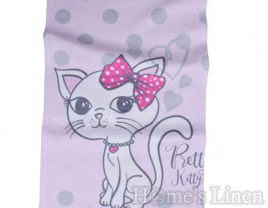 """Детска хавлиена кърпа DF печат """"Кити"""""""