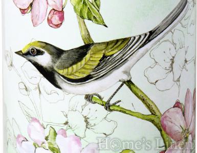 "Декорирана, ароматна свещ ""Birds Symphony green"", IHR"