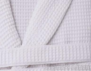 Халат за баня 100% памук вафел шал яка