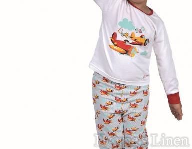 "Детска пижама 100% памук ""Авиятор"" 2-3г."