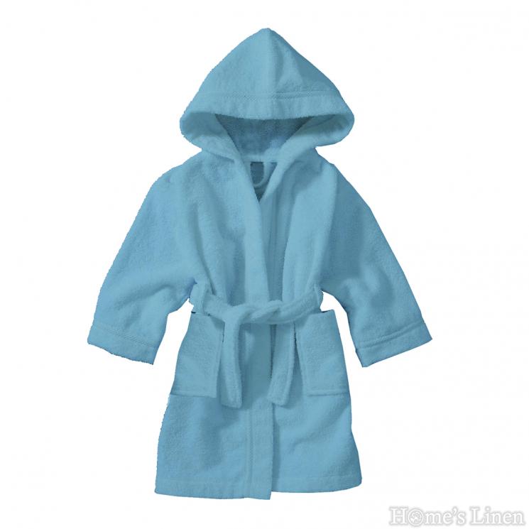 """Детски халат за баня с качулка 100% памук """"Стандарт"""" - 5 пастелни цвята"""