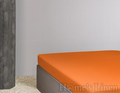 Долен чaршаф постелъчен 100% памук дюс оранжево