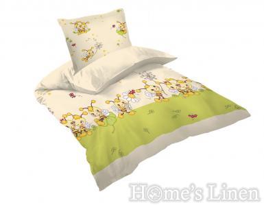 "Бебешко спално бельо 100% памук Ранфорс ""Пчелички"""