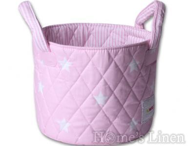 """Малък кош за съхранение на дрехи и играчки """"Розови звезди"""""""