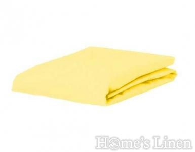 Долен чaршаф постелъчен 100% памук дюс жълто