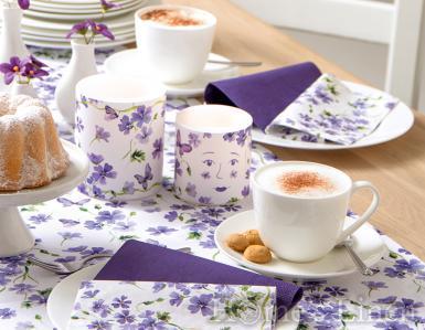 "Декорирана, ароматна свещ ""Purple Spring"", IHR"