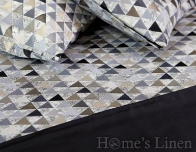 """Комплект шалте с декоративни възглавници """"Сиви триъгълници"""""""