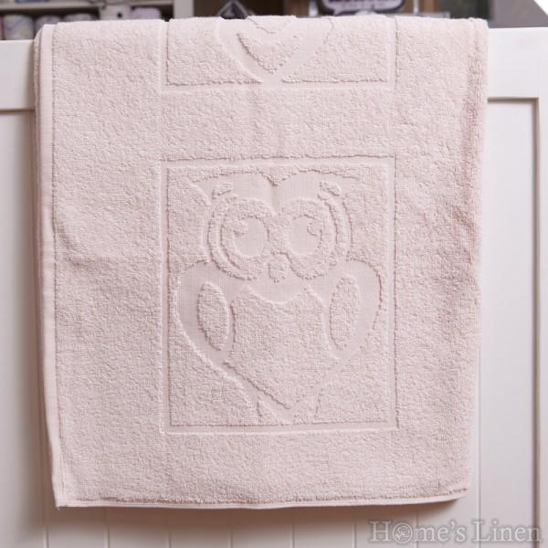 """Детска хавлиена кърпа 100% памук """"Розов бухал"""""""