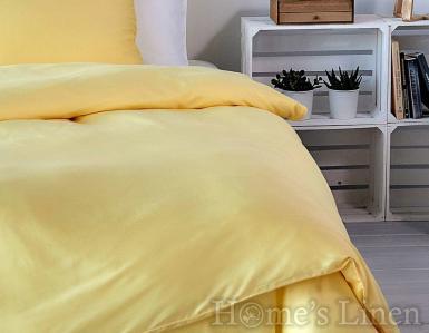 """Еднолицев спален комплект памучен сатен, 100% памук """"Жълт кантарион"""", Classic Collection"""
