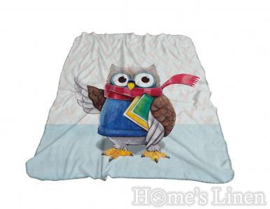"""Одеяло фланел 3D принт """"Бухал"""""""