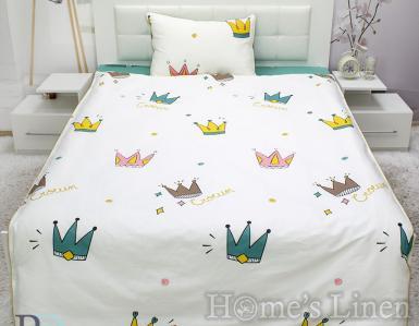"""Детско спално бельо 100% памук """"Корони"""""""
