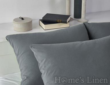 Комплект 2бр. калъфки за възглавници 100% памук стоманено сиво