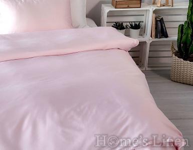 """Еднолицев спален комплект памучен сатен, 100% памук """"Бледо розово"""", Classic Collection"""