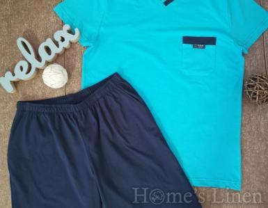"""Мъжка пижама """"Класик"""" синьо"""