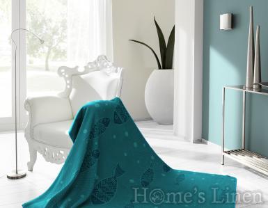 "Луксозно одеяло с морски мотиви памук бленд ""Deep Blue Sea"", Seaside Collection"