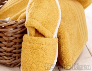 Хавлиени чехли 100% памук горчица