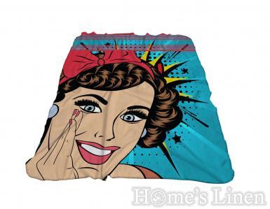 """Одеяло фланел 3D принт """"Комикс"""""""