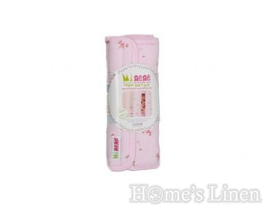 Индивидуален обиколник за креватче розови цветя - 2бр.