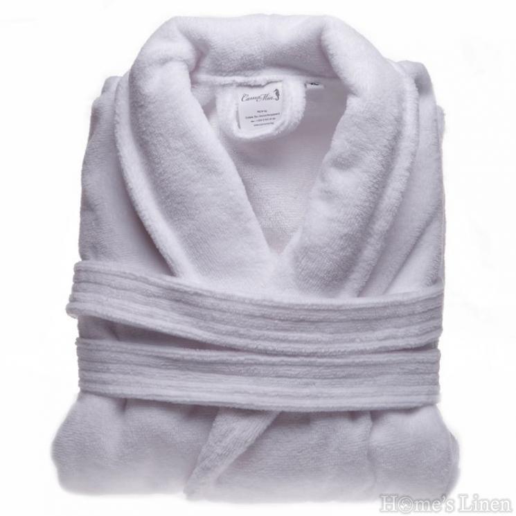 "Халат за баня 100% памук велур ""Бяло"""