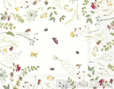 """Дизайнерски салфетки 20бр """"Light Flowers"""", IHR"""