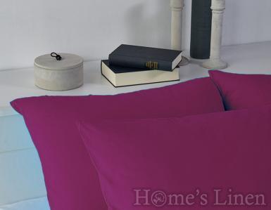Комплект 2бр. калъфки за възглавници 100% памук тъмen люляк