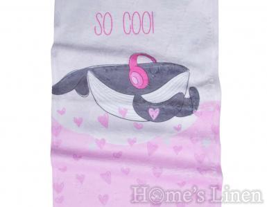 """Детска хавлиена кърпа DF печат """"Бебе кит"""""""
