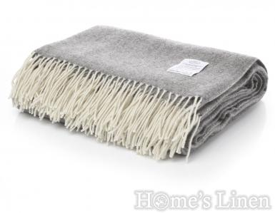 "Луксозно наметало/ одеяло мерино вълна ""Winterberry"" тъмно сиво"