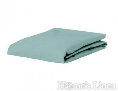 Долен чaршаф постелъчен 100% памук дюс петрол