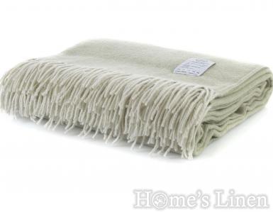 "Луксозно наметало/ одеяло мерино вълна ""Winterberry"" светло зелено"